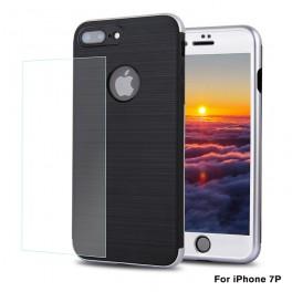 热点新款 iphone7 plus手机壳   苹果7P全包手机套带钢化膜