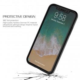 热点新款iPhone X手机壳   苹果X全包手机壳带钢化膜