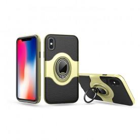 热点新款iPhone X手机壳  苹果X带支架指环   苹果X带车载磁吸
