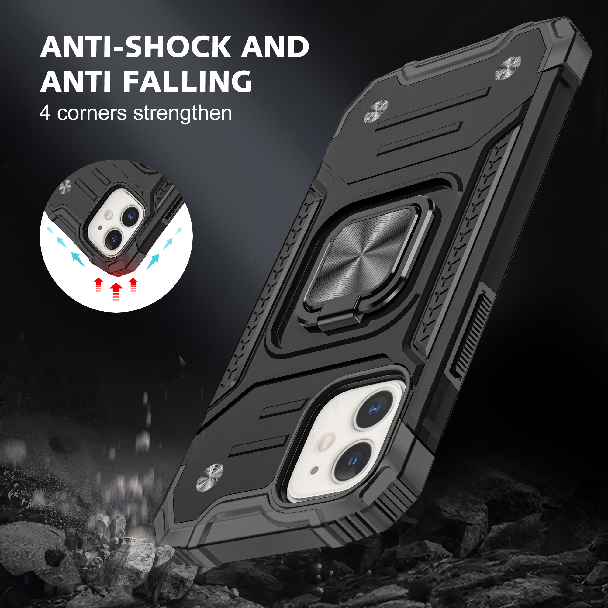 moto中文官网_RD Hot Selling Magnetic Ring Shockproof Phone Case For iPhone 12 Pro Max X XS 6 7 8 ...